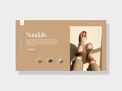 Sandals UI Design landing page design uidesign