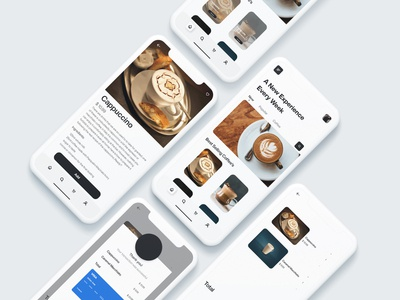 Nite coffee app coffee app design mockup design uidesign