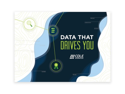 Data Banner popup banner environmental graphics technology data search trophy achievement gradient map topography vector ui series design typography illustration