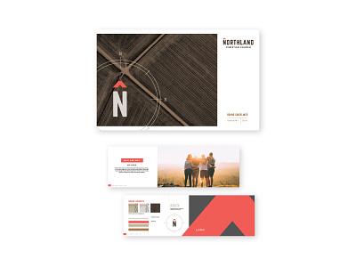 Northland Brandbook church design church logo print design typography brand book compass