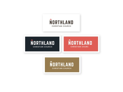 Northland Logo logo vector branding design illustration typography discover explore compass church design church logo