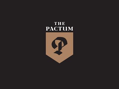 Pactum Podcast podcast art podcast reformed theology sermon blackletter bible branding logo lettering handlettered typography illustration