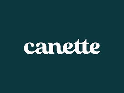 Canette vintage serif wordmark typeface hand lettering type font lettering design typography logotype logo