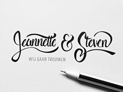 Jeannette & Steven | Handlettering