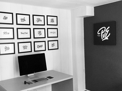 The Workspace desk setup workspace office lettering hand lettering typographer logodesigner process macbook apple