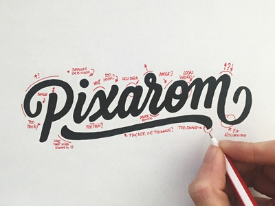 Revision Process identity branding word mark wordmark brush sketch calligraphy typography logotype logo hand lettering revision
