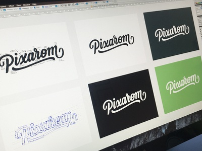 Vectorizing hand drawn brush sketch calligraphy typography logotype logo hand lettering font type typeface pencil