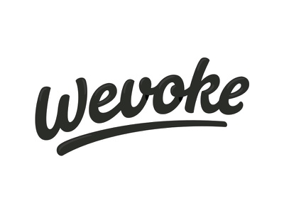 Wevoke, revised logo logotype handlettering lettering