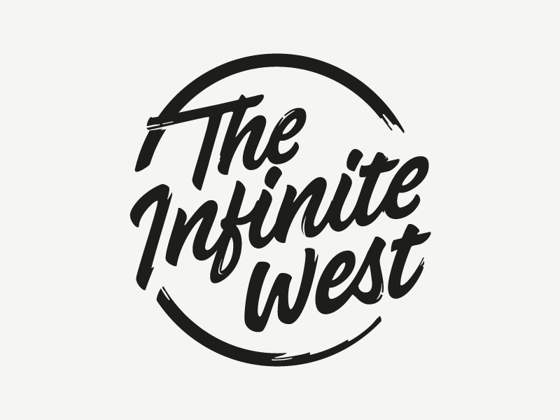 The Infinite West word mark lettering wordmark hand drawn sketch calligraphy typography logotype logo hand lettering type pencil