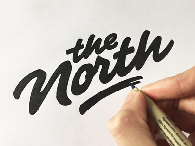 The North pencil typeface type font hand lettering logo logotype typography calligraphy sketch brush hand drawn