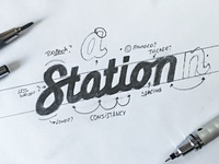 """Sketching a """"Station"""" iteration"""