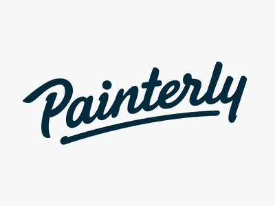 Painterly (unused) pencil typeface type font hand lettering logo logotype typography calligraphy sketch brush hand drawn