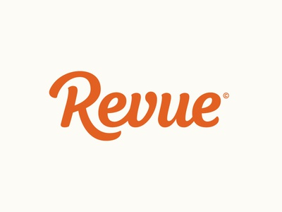 Revue word mark lettering wordmark pencil type hand lettering logo logotype typography calligraphy sketch hand drawn