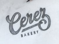 Cerez Bakery - Sketch word mark hand drawn sketch calligraphy typography logotype logo lettering hand lettering type pencil wordmark