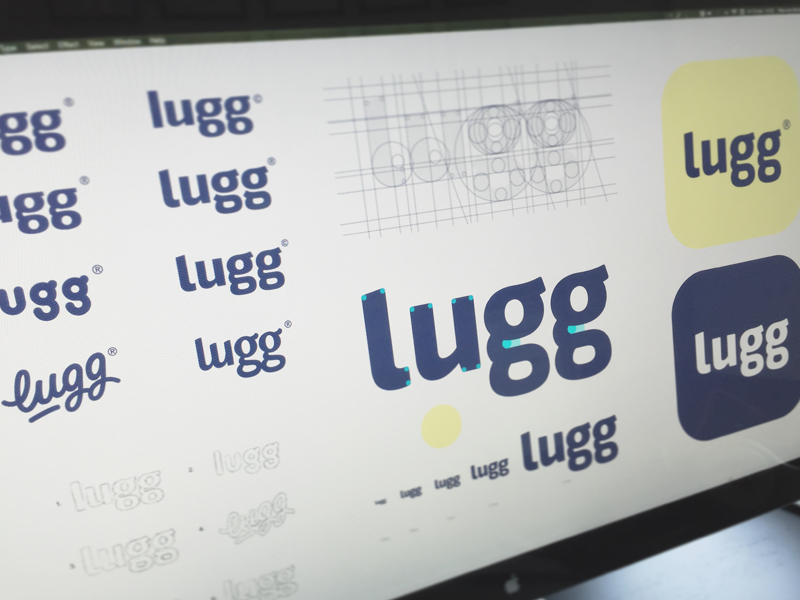 Lugg® sans serif screen wordmark screenshot typeface type font hand lettering logo logotype typography sketch