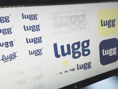 Lugg® sans serif screen wordmark screenshot typeface type font hand lettering logo logotype typography sketch
