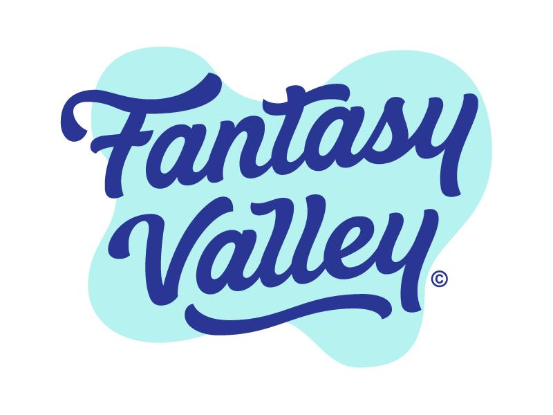Fantasy Valley word mark type typograpy wordmark lettering sticker logotype logo