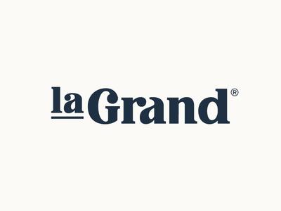 La Grand - Serif serif typography word mark type wordmark lettering logotype logo