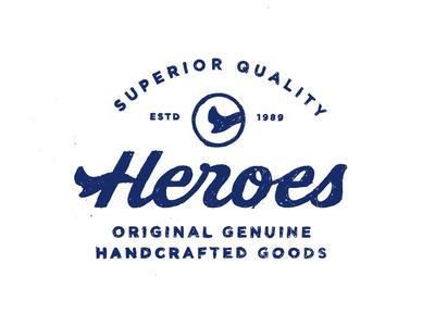 Heroes print handtype type typograpy wordmark lettering logotype logo