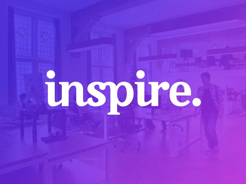Inspire. word mark type typograpy wordmark lettering sticker logotype logo
