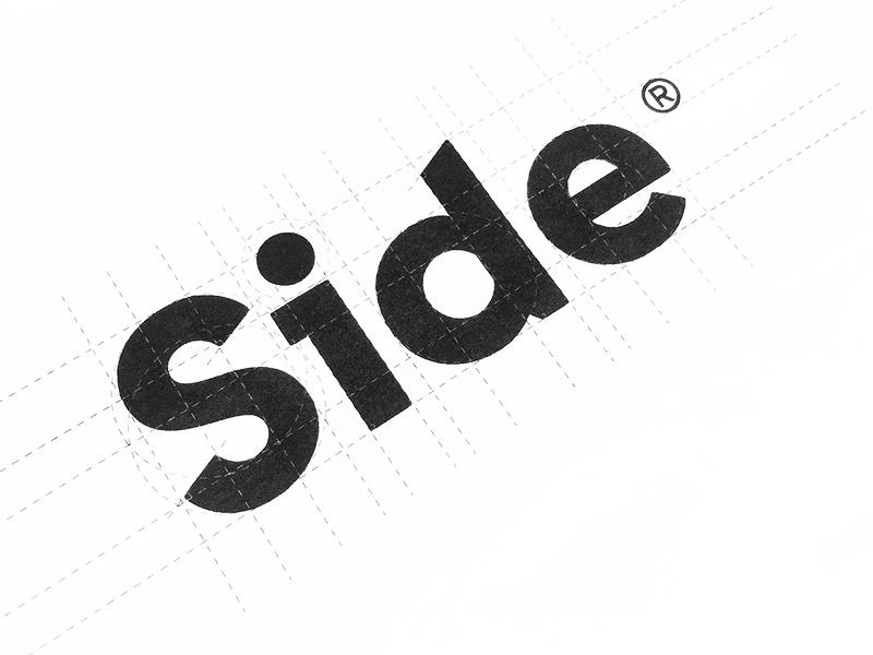 Side™ word mark type typograpy wordmark lettering sticker logotype logo