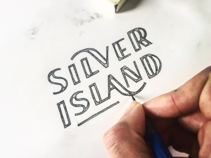SILVER ISLAND - Process word mark type typograpy wordmark lettering sticker logotype logo