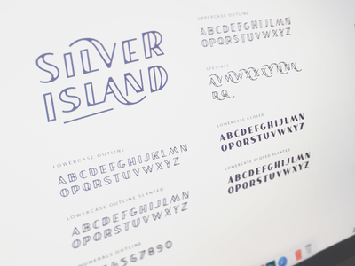 SILVER ISLAND - Fontface word mark type typograpy wordmark lettering sticker logotype logo