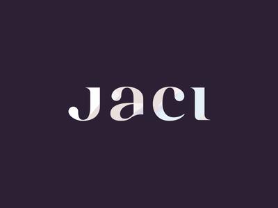 JACI word mark type typograpy wordmark lettering sticker logotype logo