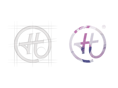 Circled the H.. word mark type typograpy wordmark lettering sticker logotype logo