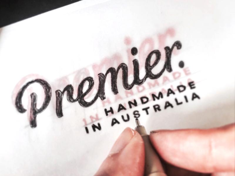 Premier word mark type typograpy wordmark lettering sticker logotype logo
