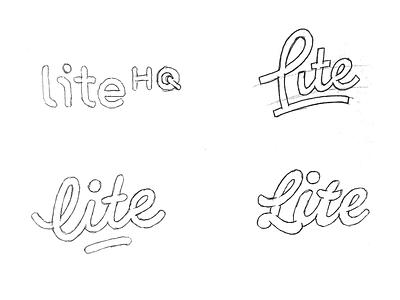 Lite word-mark. word mark type typograpy wordmark lettering sticker logotype logo