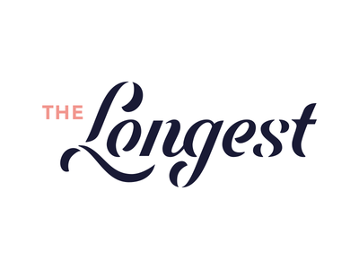 The Longest. lettering font hand written identity branding script word mark type typograpy wordmark logotype logo