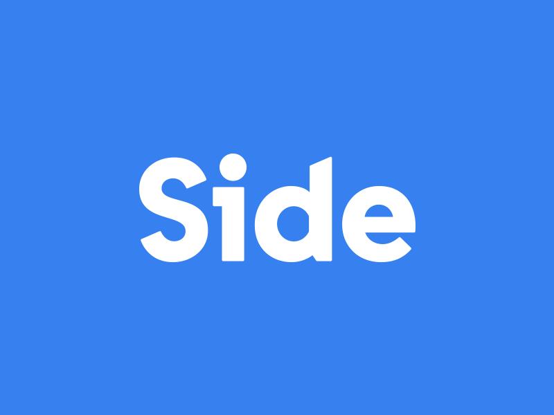 Side script identity hand written font branding word mark type typograpy wordmark lettering logotype logo