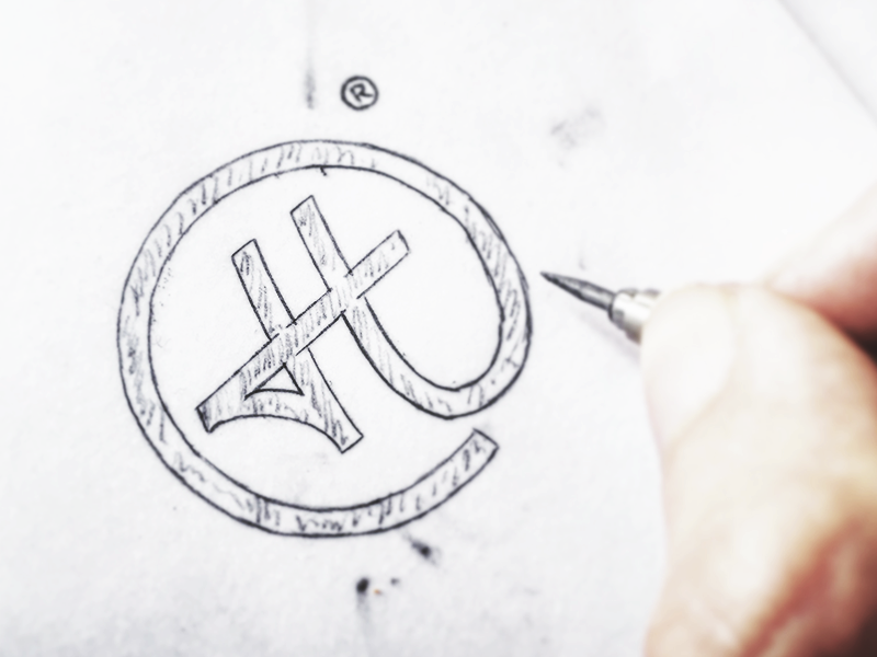 """Sketched """"H"""". branding identity hand drawn sketch calligraphy typography logotype logo hand lettering type wordmark script"""