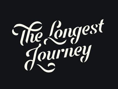 The Longest Journey identity word mark script lettering logo type