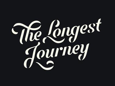 The Longest Journey identity word mark script lettering logo type