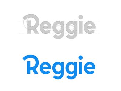 Reggie! grid logo branding serif logo type lettering script word mark identity