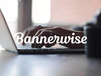 Bannerwise 2.0 grid logo branding serif logo type lettering script word mark identity