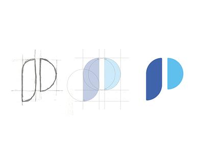 "Prototypr has a new ""P"". letter logodesign monogram symbol icon mark logotype logo"