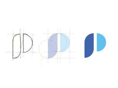 "Prototypr has a new ""P"". letter logodesign monogram symbol icon mark logotype logo"