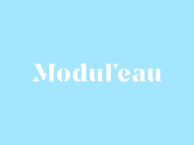Modul'eau letter logodesign monogram logo logotype mark icon symbol