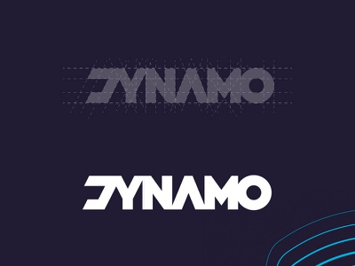 DYNAMO branding font lettering logotype logo sans serif logodesign letter