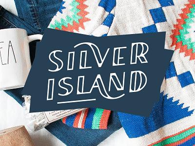 SILVER ISLAND - Cover branding font lettering logotype logo sans serif logodesign letter