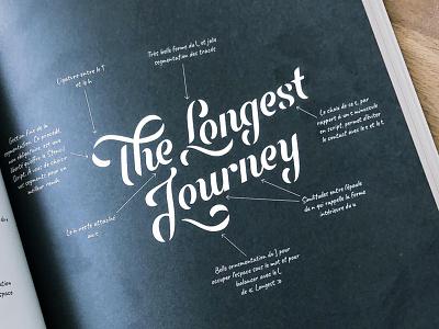 The Longest Journey branding font lettering logotype logo sans serif logodesign letter