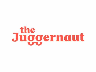 the Juggernaut wordmark serif typeface font illustration type lettering typography logotype logo