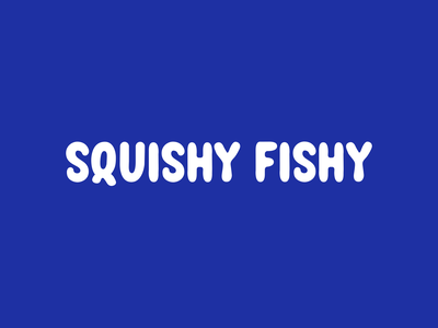 Squishy Fishy word mark illustration wordmark lettering font hand lettering type typography logotype logo