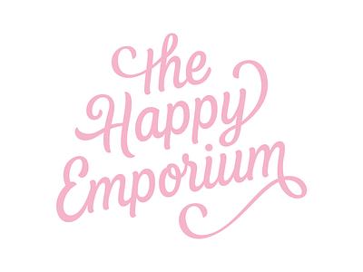 The Happy Emporium (Remake Challenge) hand lettering wordmark hand drawn type sketch pencil lettering typography logotype logo