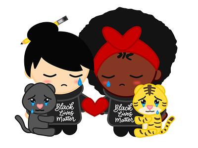 Yellow Peril Supports Black Lives Matter blacklivesmatter design illustration yellow peril blm