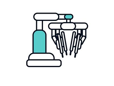Da Vinci Xi ui technology healthcare science illustration icon