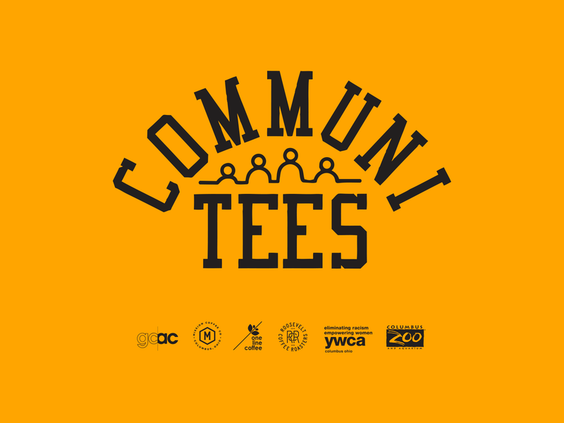 Communi-tees nonprofit teeth logo design vintage logotype ohio columbus tshirt tee tees